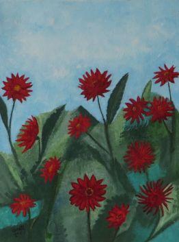 red flower garden, 2011