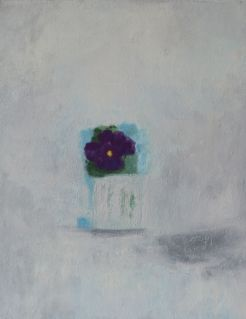 purple pansy in vase, 2006